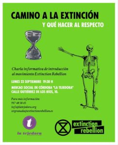 Charla informativa del movimiento Extinction Rebellion